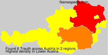 Surname Trauth in Austria