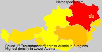Familiennamen Trauttmansdorff - Austria