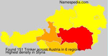 Surname Trinker in Austria