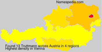Familiennamen Truttmann - Austria