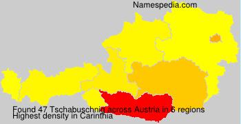 Surname Tschabuschnig in Austria