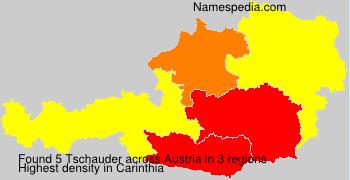 Familiennamen Tschauder - Austria