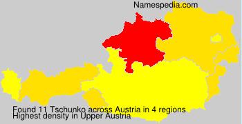 Familiennamen Tschunko - Austria
