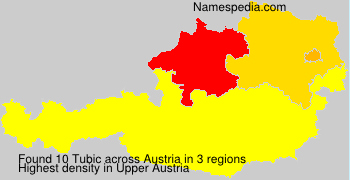 Surname Tubic in Austria