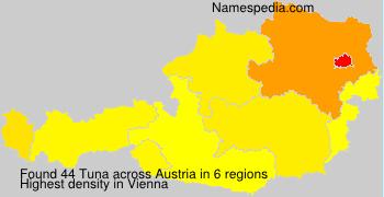 Familiennamen Tuna - Austria