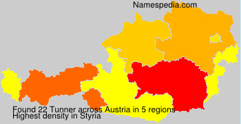 Surname Tunner in Austria