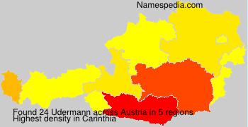 Surname Udermann in Austria