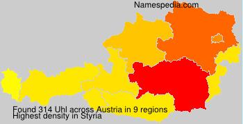 Surname Uhl in Austria