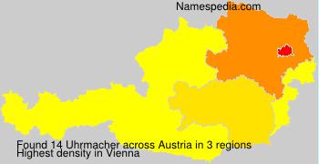Surname Uhrmacher in Austria