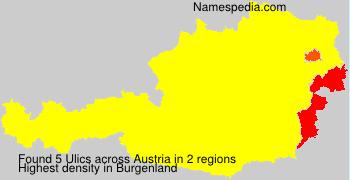Surname Ulics in Austria