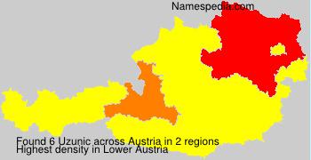 Surname Uzunic in Austria