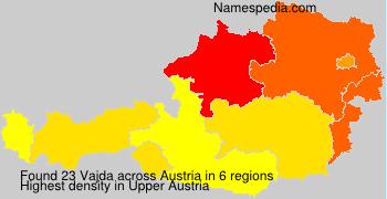 Surname Vajda in Austria