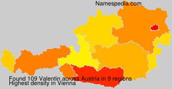 Surname Valentin in Austria