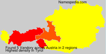 Surname Vandory in Austria
