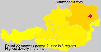 Familiennamen Vanecek - Austria