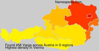 Surname Varga in Austria
