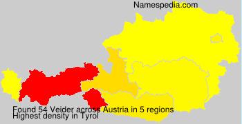 Surname Veider in Austria