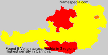 Familiennamen Velten - Austria