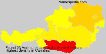 Familiennamen Verhounig - Austria