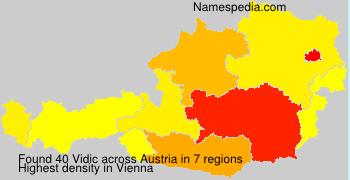 Surname Vidic in Austria