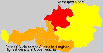 Surname Visin in Austria