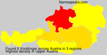 Surname Vocklinger in Austria