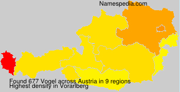 Familiennamen Vogel - Austria