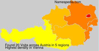 Surname Vojta in Austria