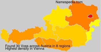 Familiennamen Voss - Austria
