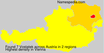 Surname Vostatek in Austria