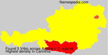 Surname Vrbic in Austria