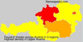 Surname Vrecko in Austria
