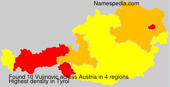 Surname Vujinovic in Austria