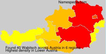 Surname Wabitsch in Austria