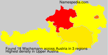Familiennamen Wachsmann - Austria