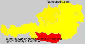 Surname Wadler in Austria