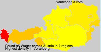 Familiennamen Wager - Austria