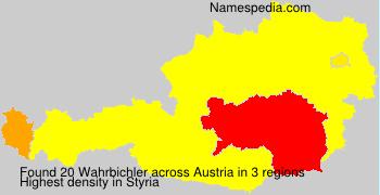 Surname Wahrbichler in Austria