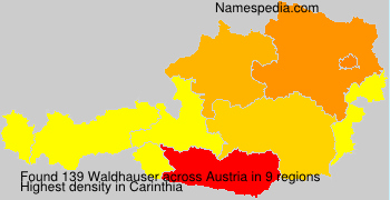 Familiennamen Waldhauser - Austria