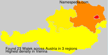 Surname Walek in Austria