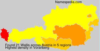 Surname Wallis in Austria