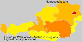 Surname Walz in Austria