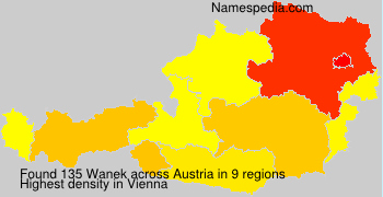 Surname Wanek in Austria