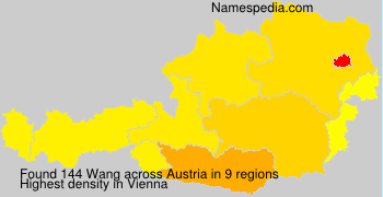 Surname Wang in Austria