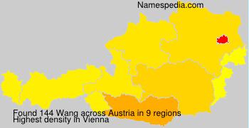 Familiennamen Wang - Austria