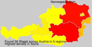 Surname Wappl in Austria