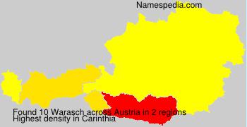 Surname Warasch in Austria