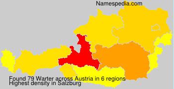 Familiennamen Warter - Austria