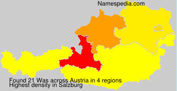 Surname Was in Austria