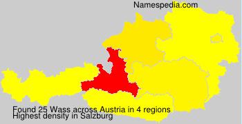 Surname Wass in Austria